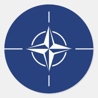 NATO-Flagge Runder Aufkleber