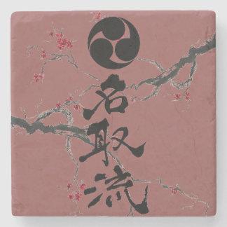 Natori-ryu Marmor-Getränk-Untersetzer mit Steinuntersetzer