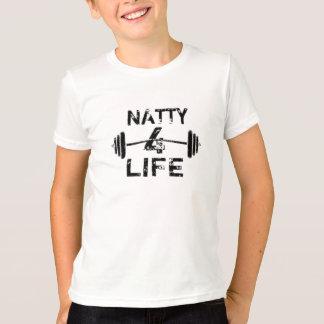 Natty 4 Lebens-Logo-Abnutzung T-Shirt