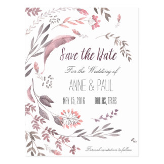 Natur BlumenSave the Date II Postkarte