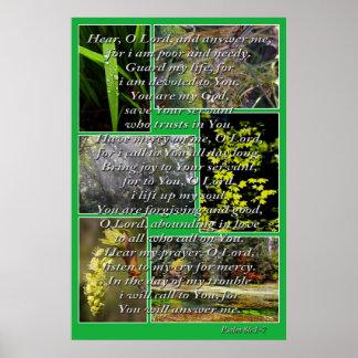 Natur-Fotos und Psalm-86:1 - 7 Poster