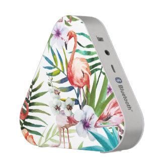 Natur-Gartenmuster des extravaganten Flamingos Bluetooth Lautsprecher