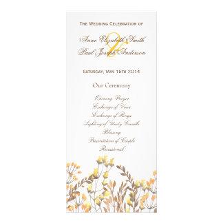 Natur-Hochzeit im Herbst Programm