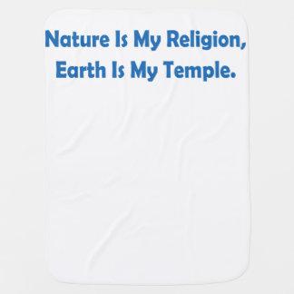 Natur ist meine Religion, Erde ist mein Tempel Babydecke