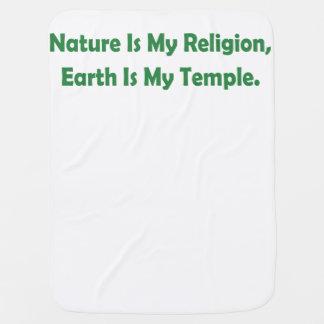 Natur ist meine Religion, Erde ist mein Tempel Kinderwagendecke