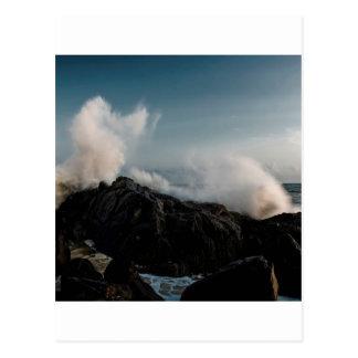 Natur-Küsten-Abbruch auf Felsen Postkarte