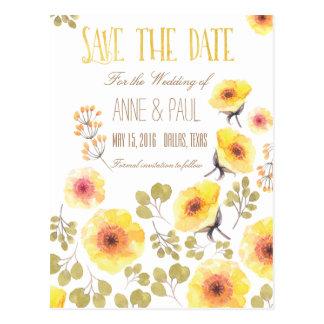 Natur mit Blumen Save the Date Postkarten