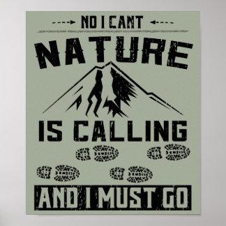 Natur nennt das Wandern Poster