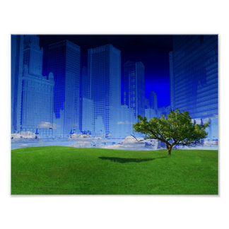 Natur und Stadt-Plakat Poster