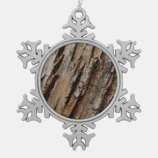 Natürlicher abstrakter strukturierter Entwurf der Schneeflocken Zinn-Ornament