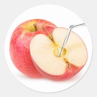 Natürlicher Apfelsaft Runder Aufkleber