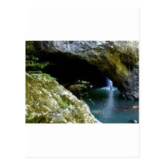 Natürlicher Bogenwasserfall Postkarte