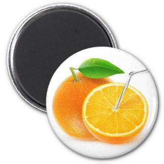 Natürlicher Orangensaft Runder Magnet 5,7 Cm