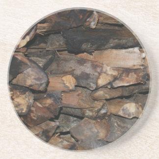 Natürliches Holz Untersetzer