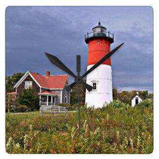 Nauset Leuchtturm, quadratische MassenWanduhr Cape Quadratische Wanduhr