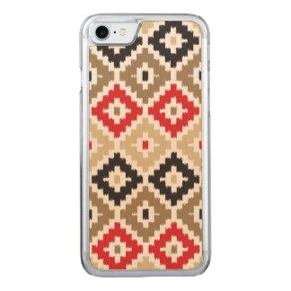Navajo-aztekisches Stammes- Druck Ikat Carved iPhone 8/7 Hülle