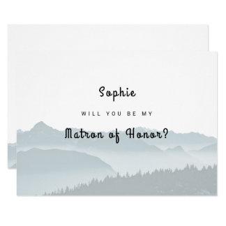 Nebelhafte Berge sind meine Matrone der Ehrenkarte Karte