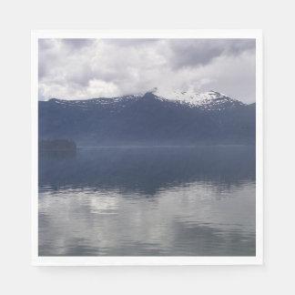 Nebelhaftes alaskisches Meer in den schönen Papierserviette