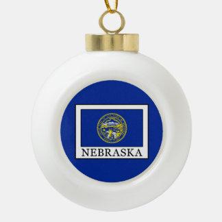 Nebraska Keramik Kugel-Ornament