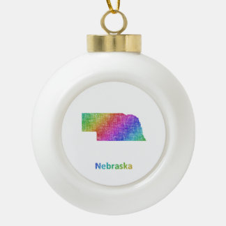 Nebraska Keramik Kugel-Ornament