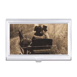 Nehmen Sie immer ein Pferd, das Sie mit einer Hand Visitenkarten Dose
