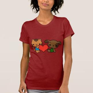 """""""nehmen Sie mein Herz, """"sagte die Katze zum Hund T-Shirt"""