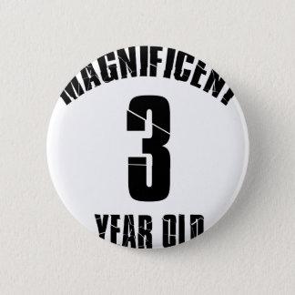 NEIGEN VON VON 3-jährig-GEBURTSTAGS-ENTWÜRFEN Runder Button 5,7 Cm