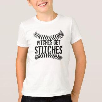 Neigungen erhalten Stiche T-Shirt