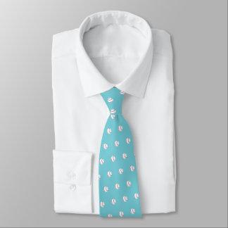 """Neigungs-perfekter gemalter Baseball"" Personalisierte Krawatten"