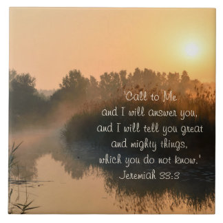 Nennen Sie zu mir, Bibel-Vers-Jeremias-33:3 Keramikfliese