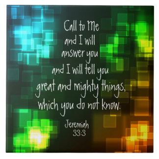 Nennen Sie zu mir Bibel-Vers-Jeremias-33:3 Keramikfliese