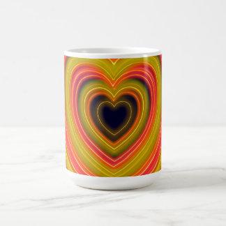 Neon beleuchteter Girly Herz-Entwurf Tasse