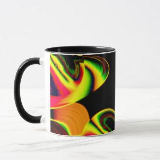 Neon Blätter Tasse