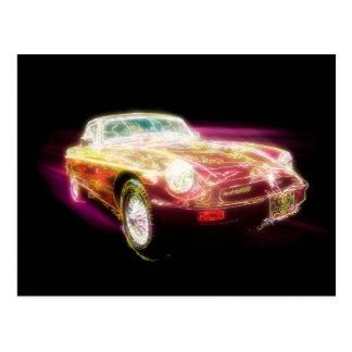 Neon-MG - Rückkehr von dem Retro Postkarte