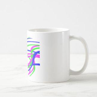 Neon wirbelte Streifen #2 Tasse
