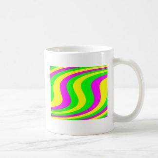 Neon wirbelte Streifen Kaffeetasse