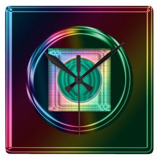 Neonregenbogen, Funky abstrakte Uhr