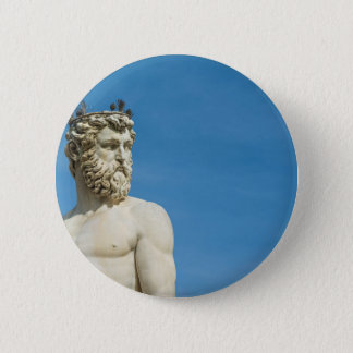 Neptun in Florence02 Runder Button 5,1 Cm