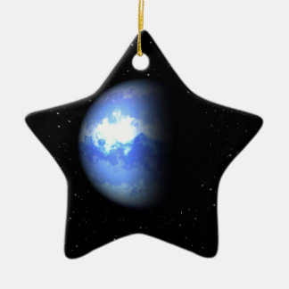 Neptun Keramik Stern-Ornament
