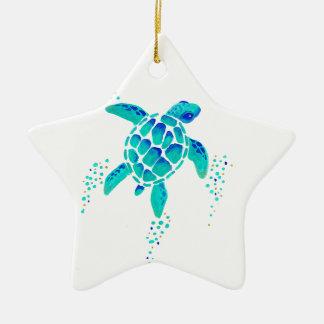 Neptun Schildkröte Keramik Ornament