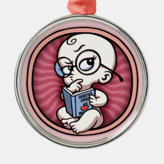 Nerby Baby nach innen Silbernes Ornament