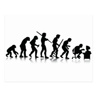 Nerd-Evolution Postkarte