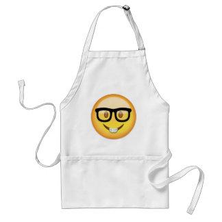 Nerd-Gesicht Emoji Schürze
