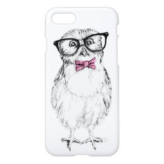 Nerdy Owletrosa-Krawatte iPhone 8/7 Hülle