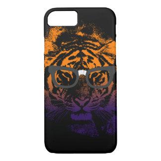 Nerdy Tiger in Gläser dunklem iPhone 6 Kasten iPhone 8/7 Hülle