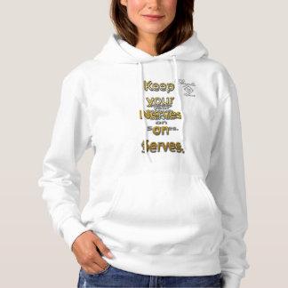Nerven-Aufschlags-Tennis mit Kapuze Sweatshirt