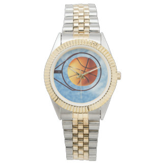 Netball_Goal_Point, _Ladys_Two_Toned_Watch. Uhr