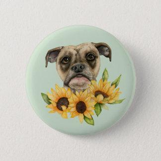 Nette | Bulldoggen-Mischung mit Runder Button 5,7 Cm
