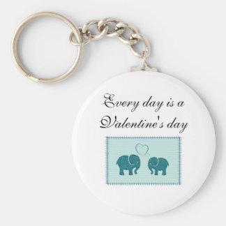 Nette niedliche Elefanten im Liebepatchwork Schlüsselanhänger