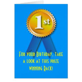 Nette Überraschung des Gestell-Geburtstags-2 Grußkarte